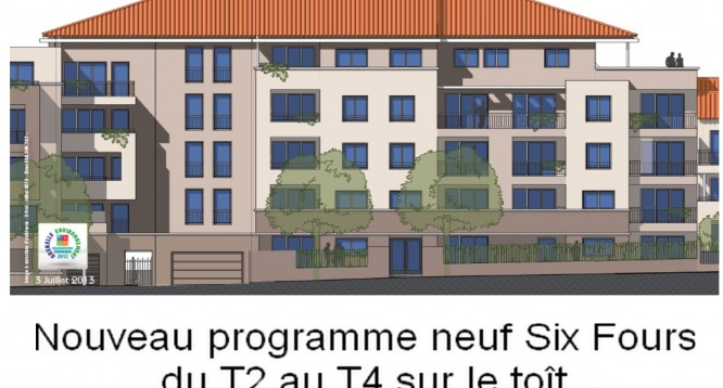 programme neuf appartement neuf t1 t2 t3 t4 + garage + six fours + toulon +var