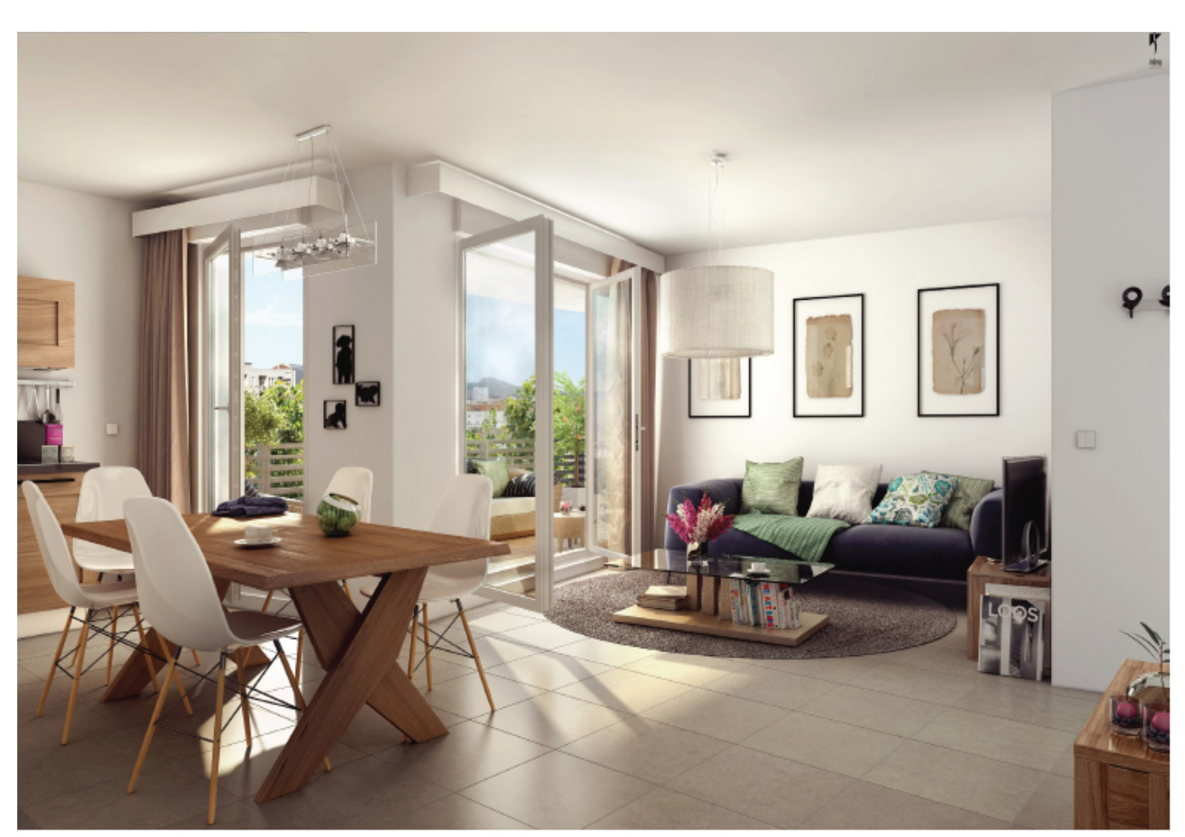 Programmes neufs anse bleue immobilier for Appartement t3 neuf